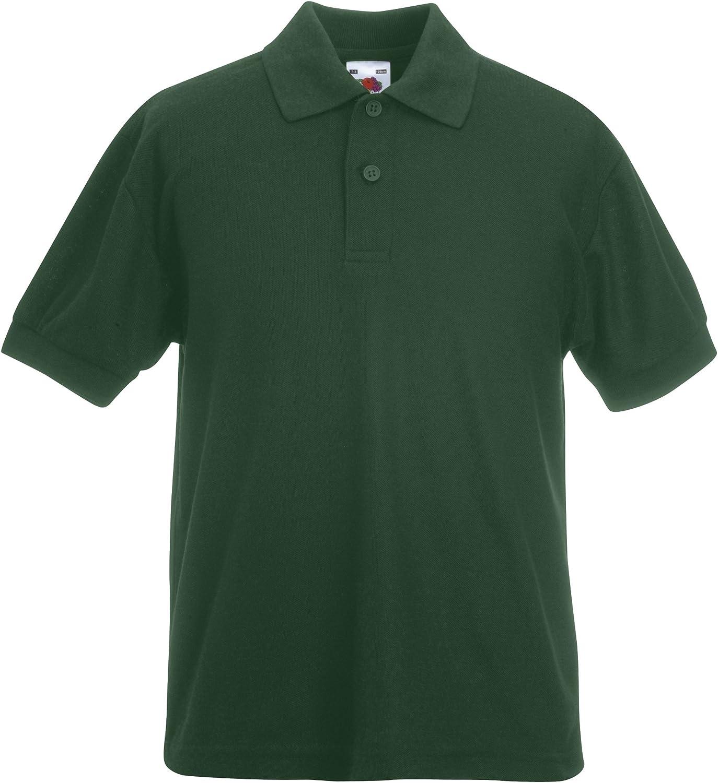 Fruit of the Loom Pique Polo T-Shirt Bambino