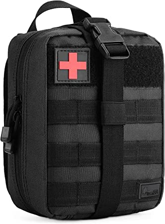 WOLF TACTICAL Medical First Aid MOLLE Pouch - EDC Utility Pouch for EMTs, First Responders, Outdoor Sports, Everyday Carry