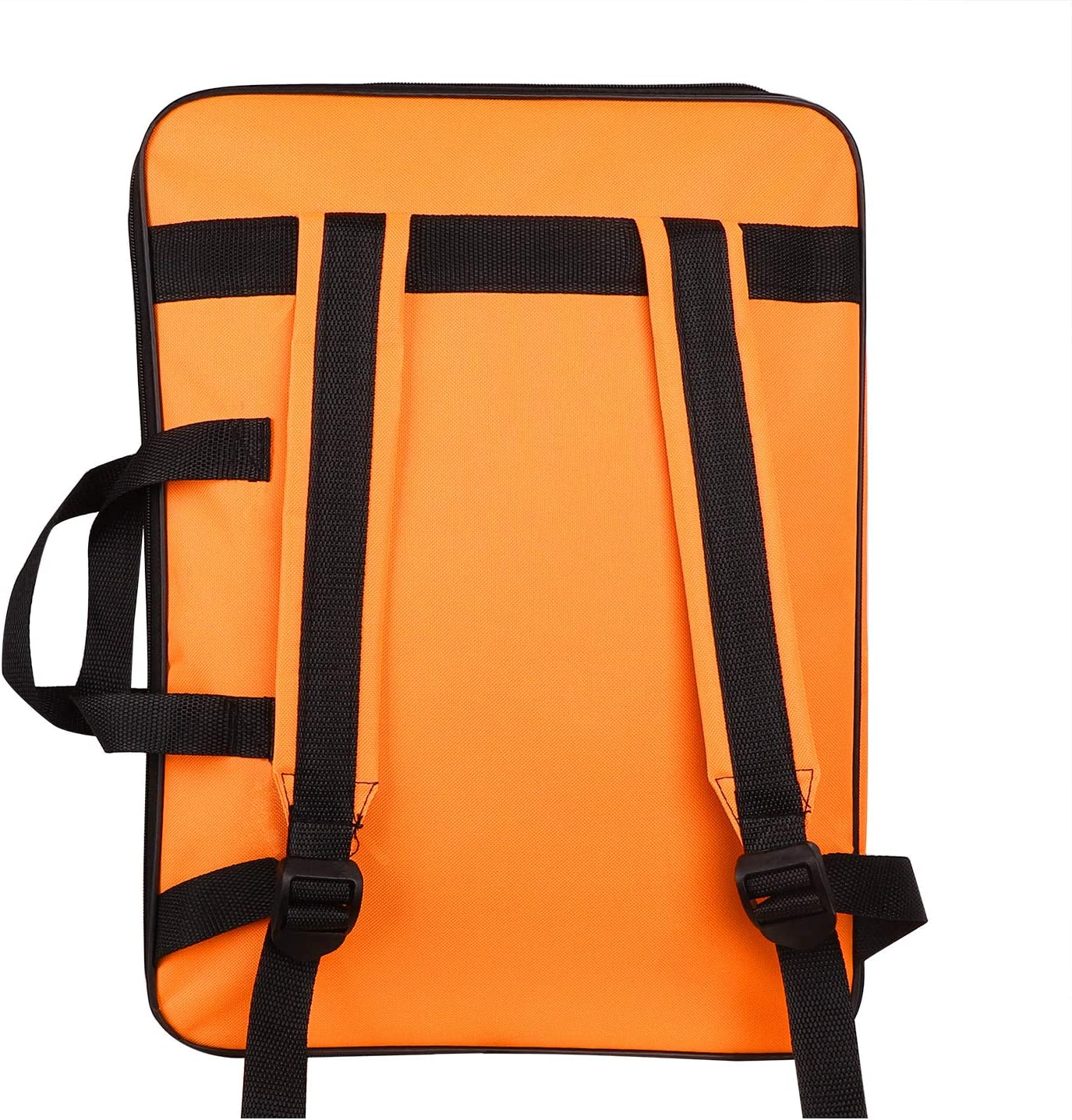 Orange Water-Resistant Art Portfolio Carry Bag A3 Student Art Work Portfolio Tote Drawing Board Bag Portable Painting Sketch Pad Storage Bag Professional Art Organizer for Palette Paints Brushes
