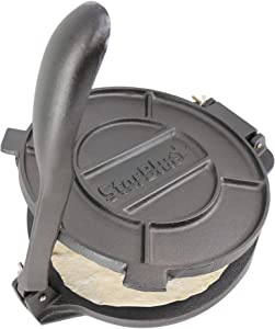 10 Inch Cast Iron Tortilla Press by StarBlue with FREE 100 Pieces Oil Paper