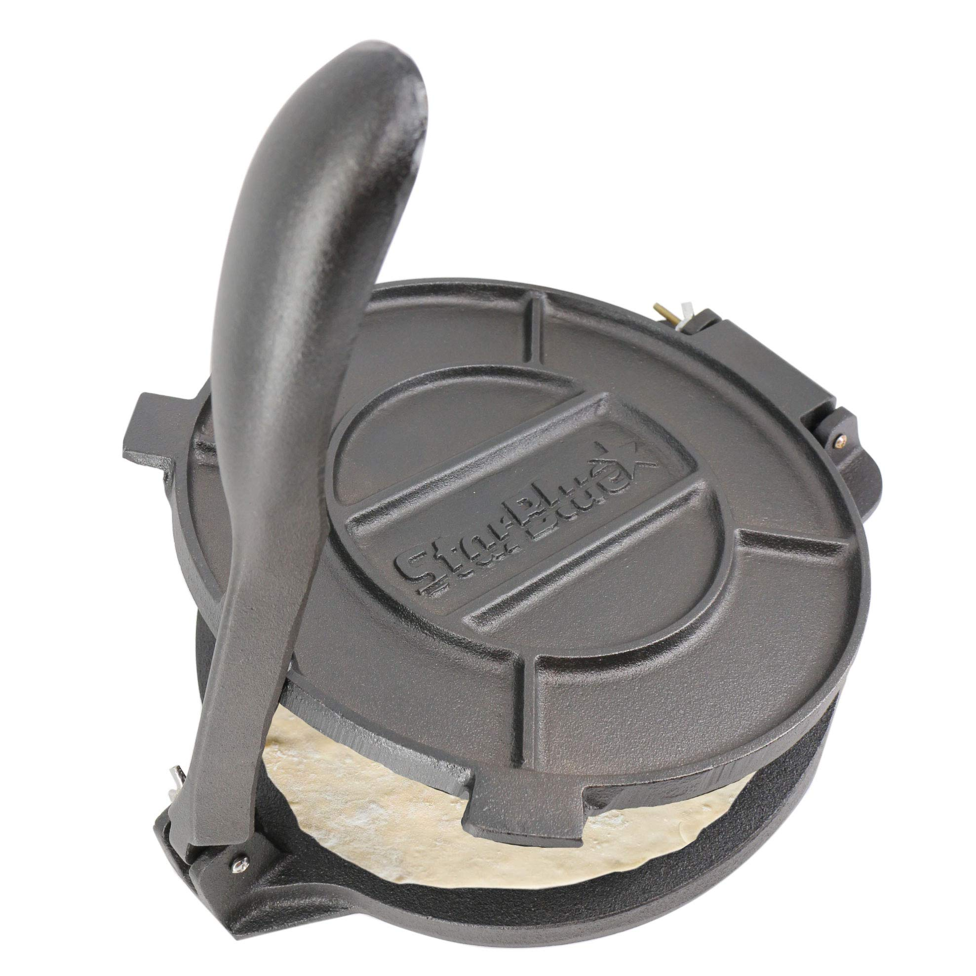 10 Inch Cast Iron Tortilla Press by StarBlue with FREE 100 Pieces Oil Paper by StarBlue
