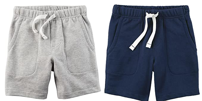 a28738efda Amazon.com: Carter's Set of 2 Boy's Cotton Pull On Shorts Toddler ...