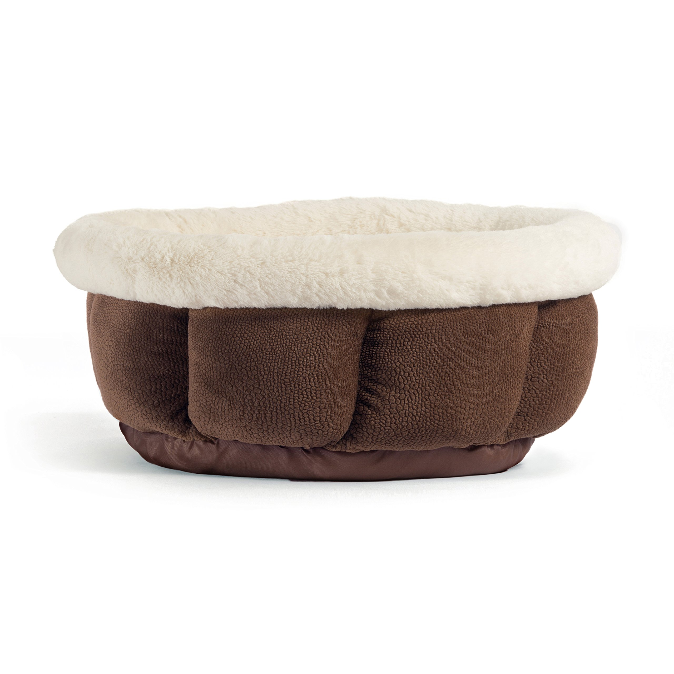 Best Friends by Sheri Small Cuddle Cup - Cozy, Comfortable Cat and Dog House Bed - High-Walls for Improved Sleep, Dark Chocolate by Best Friends by Sheri (Image #2)