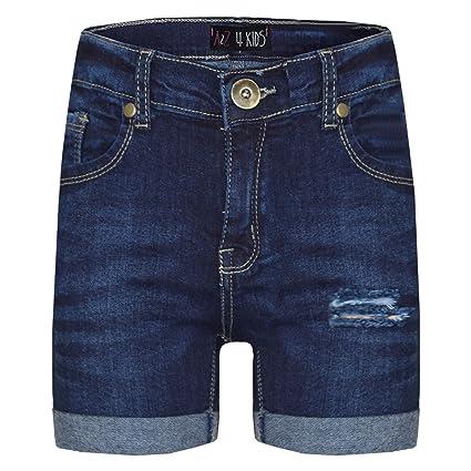A2Z 4 Kids® Kinder Shorts Mädchen Jungen Denim Zerrissene Chino Bermuda Shorts Casual Knielange Halbe Hose Alter 5 6 7 8 9 10