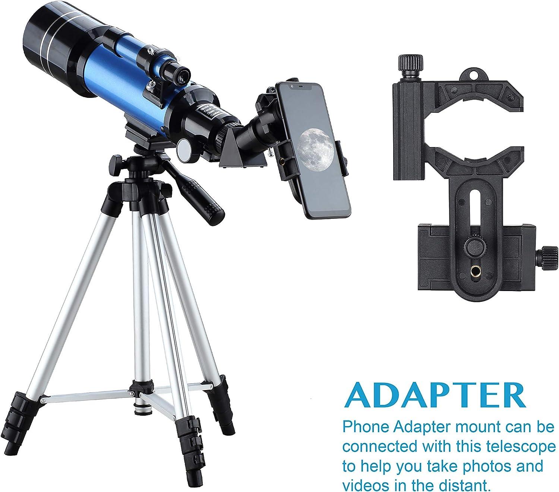 Aomekie Teleskop Kinder Einsteiger 50//360 Fernrohr Teleskop Astronomie mit Koffer Stativ und Zenitspiegel