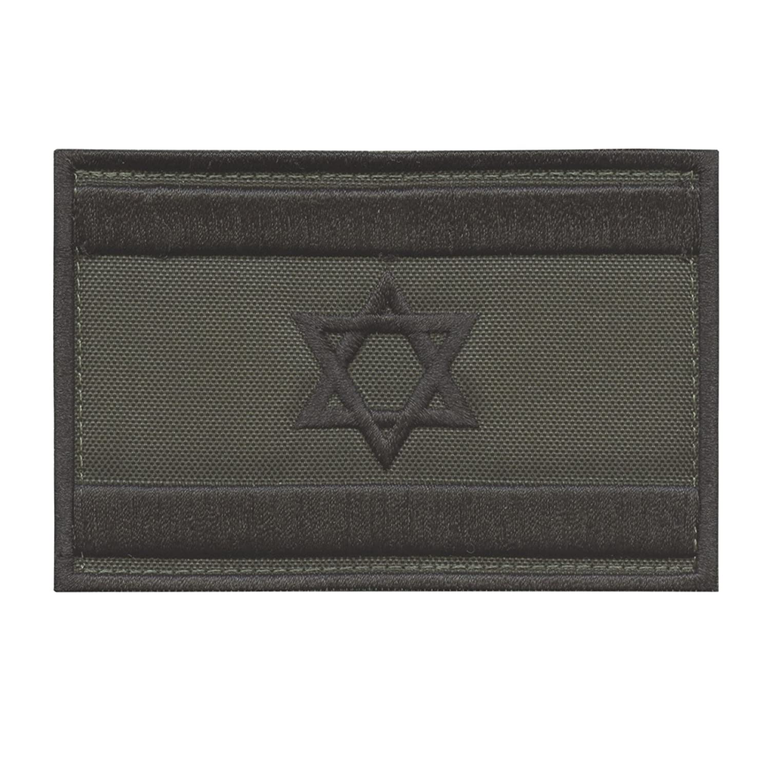Olive Drab OD Israel Flag IDF Arid Morale Star David Army Embroidery Sew Iron on Patch 2AFTER1 P.1644.300.C