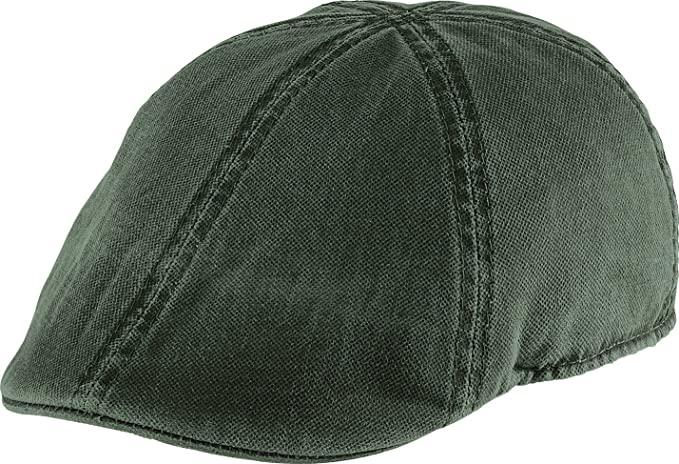 0b3c1ed9ebef Henschel Distressed Duckbill Ivy Scally Cap Olive Washed Cotton 6/4 Hat 6302
