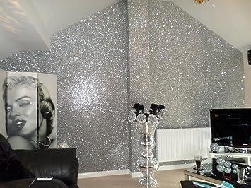 Chunky Glitter Wallpaper Sample Grade 3 (Silver) Part 48