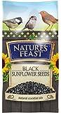 Nature's Feast Black Sunflower Seeds For Wild Birds, 3 kg