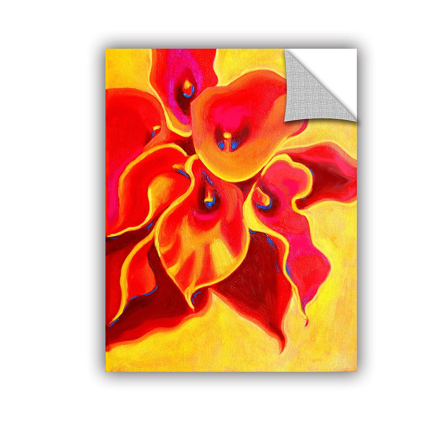 24 by 32 ArtWall Susi Francos Red Calla Shadow Art Appeelz Removable Graphic Wall Art