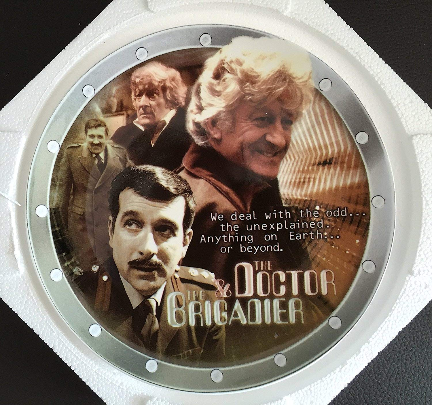 DOCTOR WHO Vintage 2004 The Third Doctor And The Brigadier 40th Anniversary Limited Edition Collectors Plate By Cards Inc