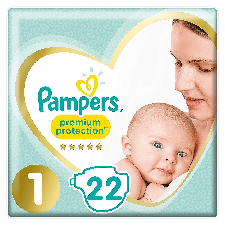 22 Windeln Pampers Premium Protection New Baby Gr/ö/ße 1 Neugeborene