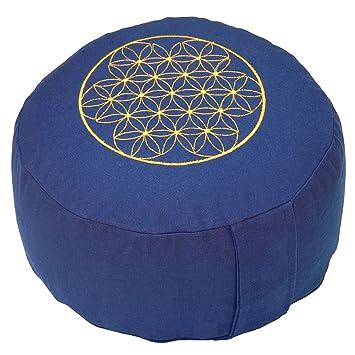 Bodhi Yoga RONDO BASIC - Cojín meditación, 30 x 13, diseño ...