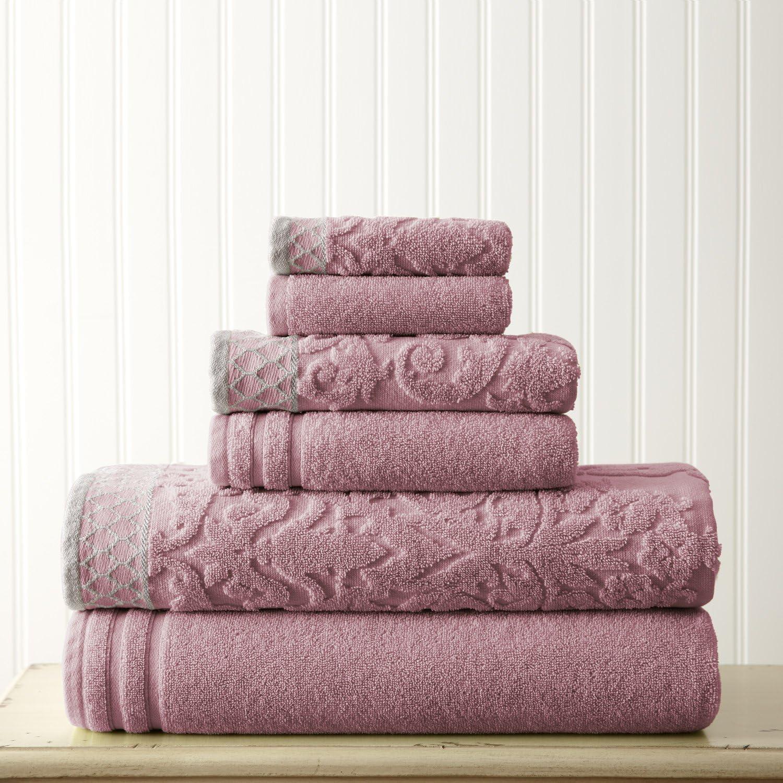 Amrapur Overseas 550GSM Damask Jacquard Gray Towel