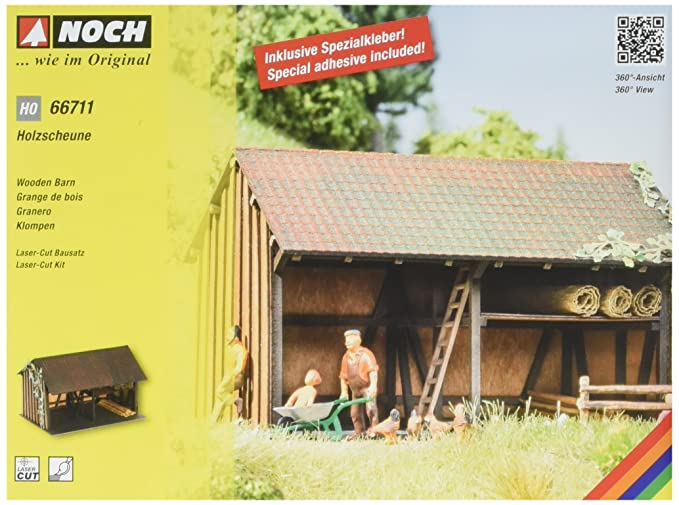 Amazoncom Noch 66711 Wooden Barn Kit H0 Scale Toys Games
