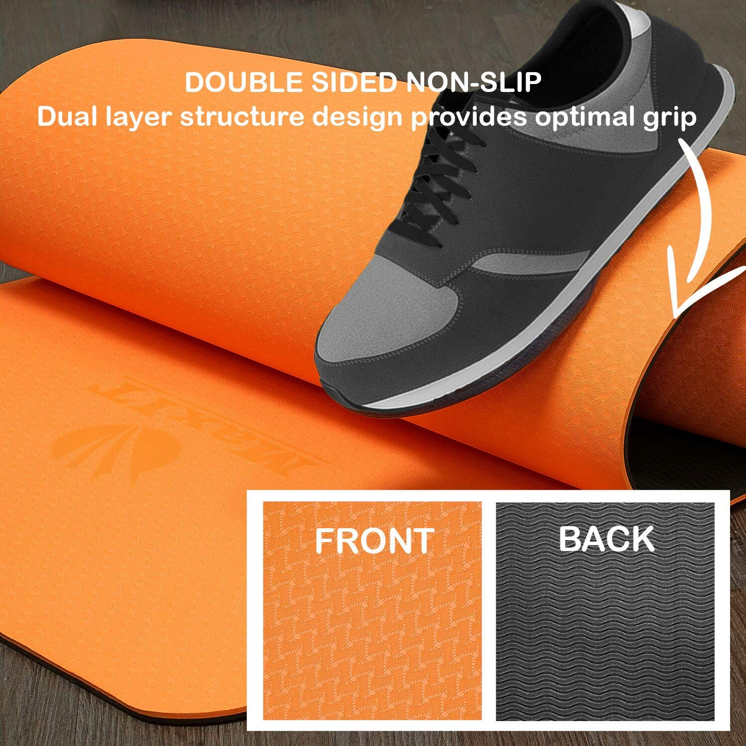 Eco-Friendly Non-Slip High-Density Pro Workout Mat with Carrying Strap Pilates Pro Workout Mat High-Density MAXIT Yoga Mat 6mm Exercise TPE 6mm Carrying Strap Included 1//4 1//4 Fitness