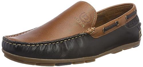 Bugatti 311262611010, Mocassins (Loafers) Homme, Marron (Cognac/Dark bleu), 44 EU