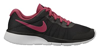 e71af1c929 Nike Girls Tanjun Racer Running Shoes (3.5 Big Kid M, Black Rush Pink  Platinum