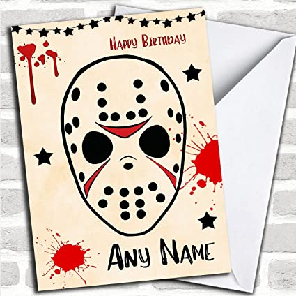 Jason Voorhees Friday 13Th Personalized Birthday Card