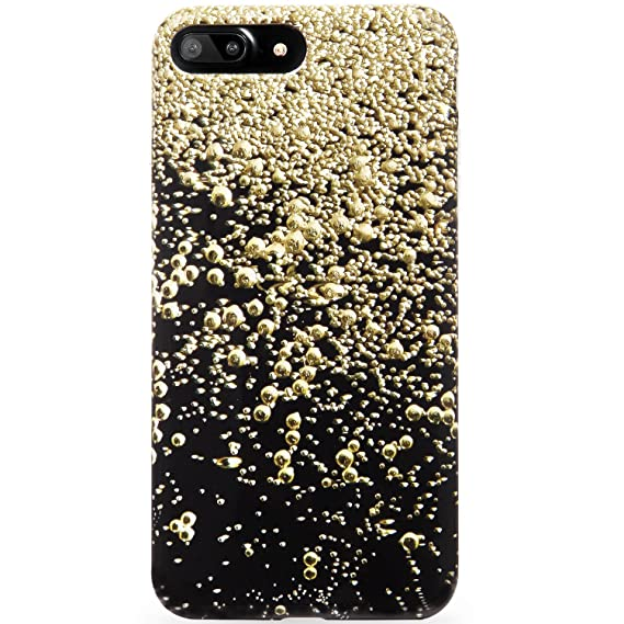 buy online d3c98 b11e2 DICHEER iPhone 7 Plus Case,iPhone 8 Plus Case,Cute Black Gold Balls for  Women,Clear Bumper Glossy TPU Silicon Rubber Soft Cover Anti-Scratch Slim  Fit ...