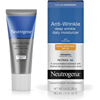 Neutrogena Ageless Intensives Anti-Wrinkle Retinol Cream, Daily Wrinkle Moisturizer with SPF 20 Sunscreen, Retinol and…