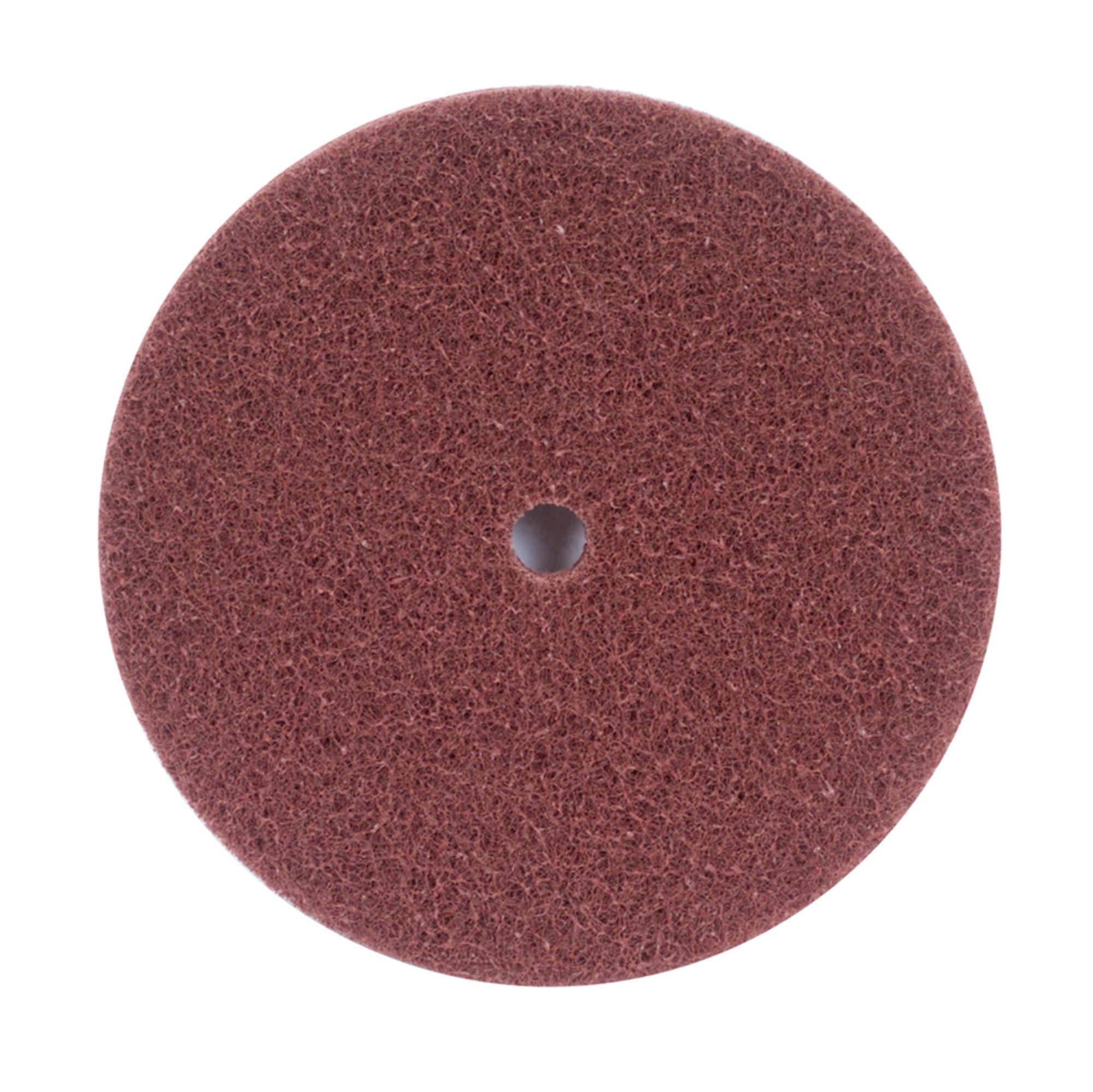 Merit High Strength Abrasotex Buffing Nonwoven Abrasive Disc, 1/2'' Arbor, Nylon Fiber, 8'' Diameter, V-Fine Grade (Case of 25)