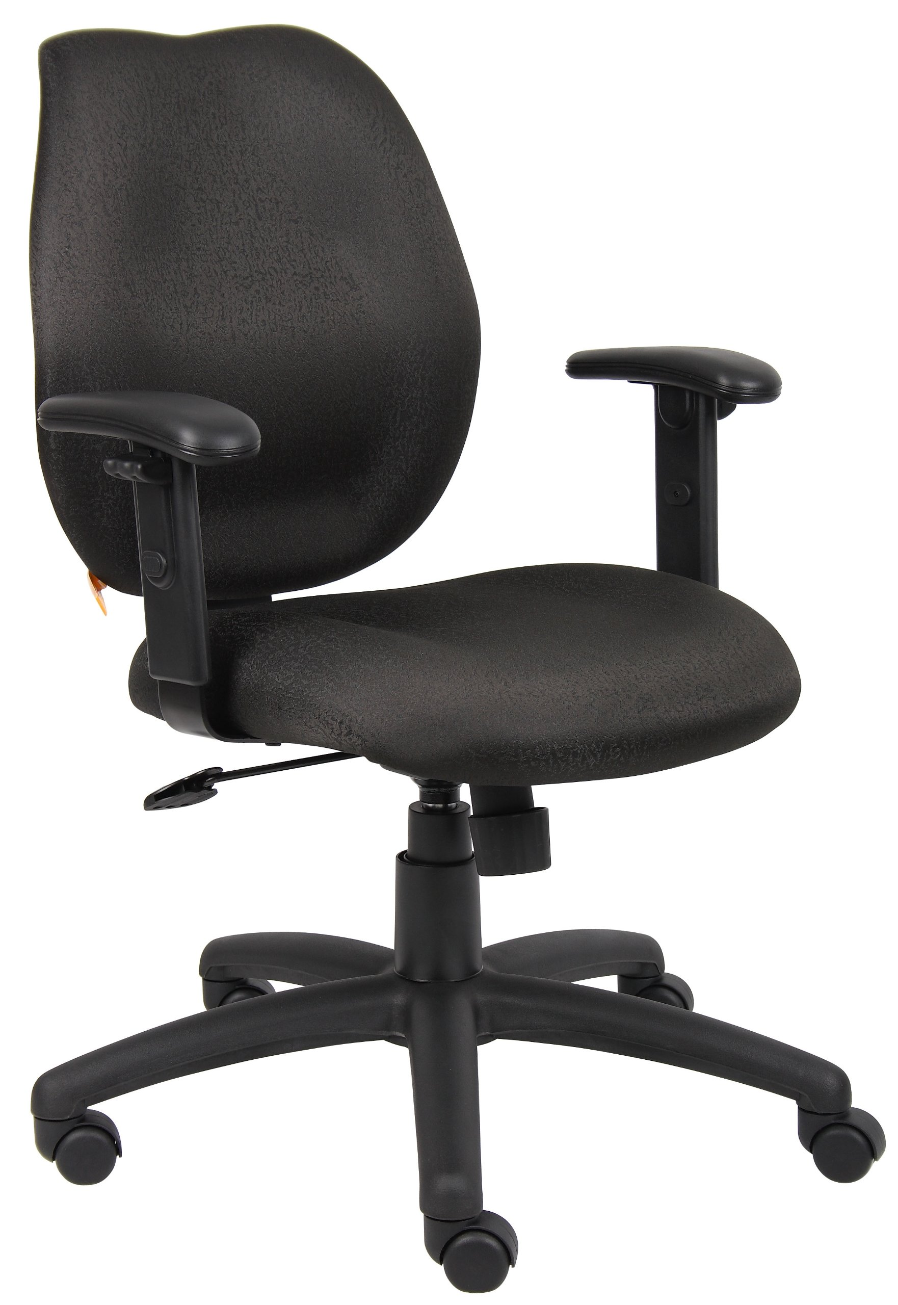 Boss Office Products B1014-BK Any Task Mid-Back Task Chair with Adjustable Arms in Black