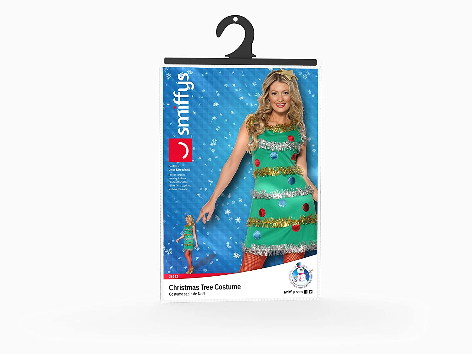 Amazon.com: Smiffy\'s Women\'s Christmas Tree Dress Costume: Clothing