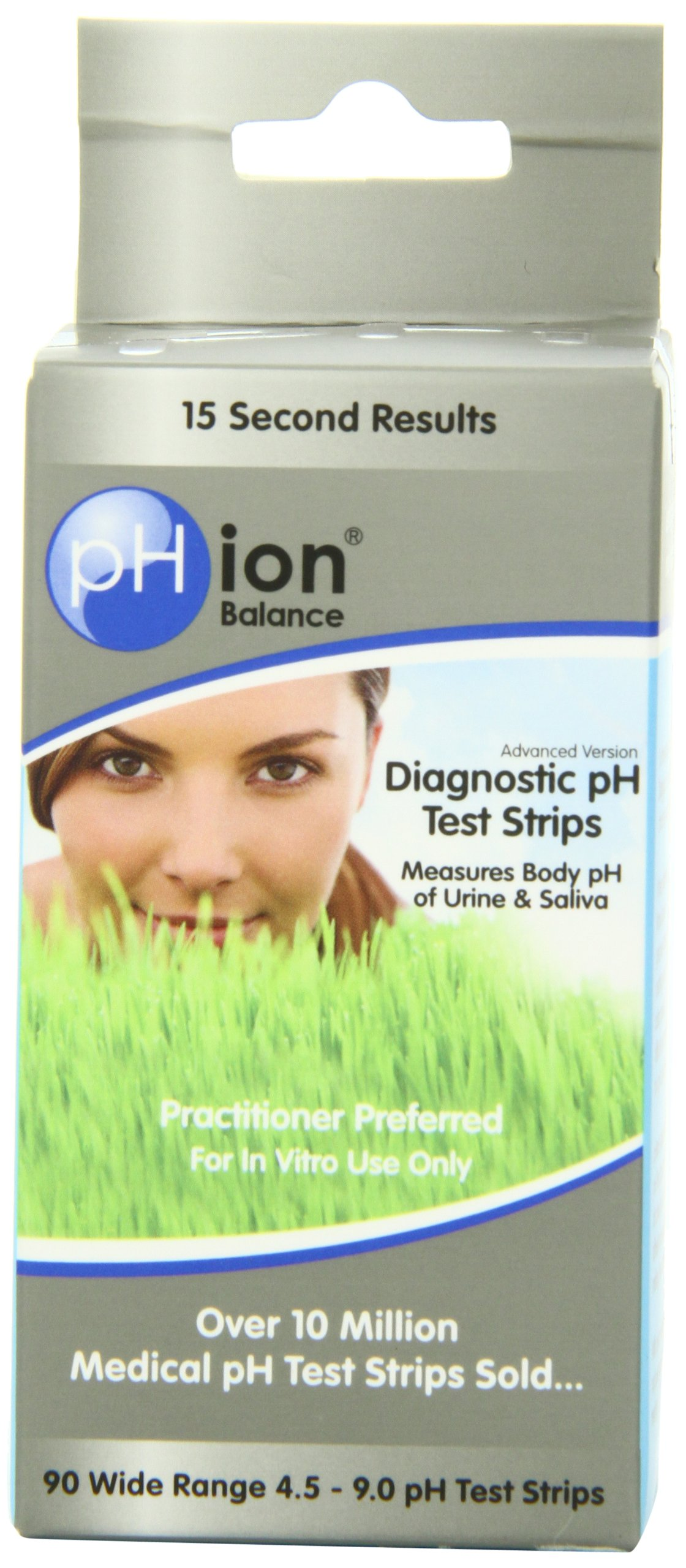 PHion Balance Diagnostic Ph Test Strips, 4.5 - 9.0 ph Range, 90-Count by pHION