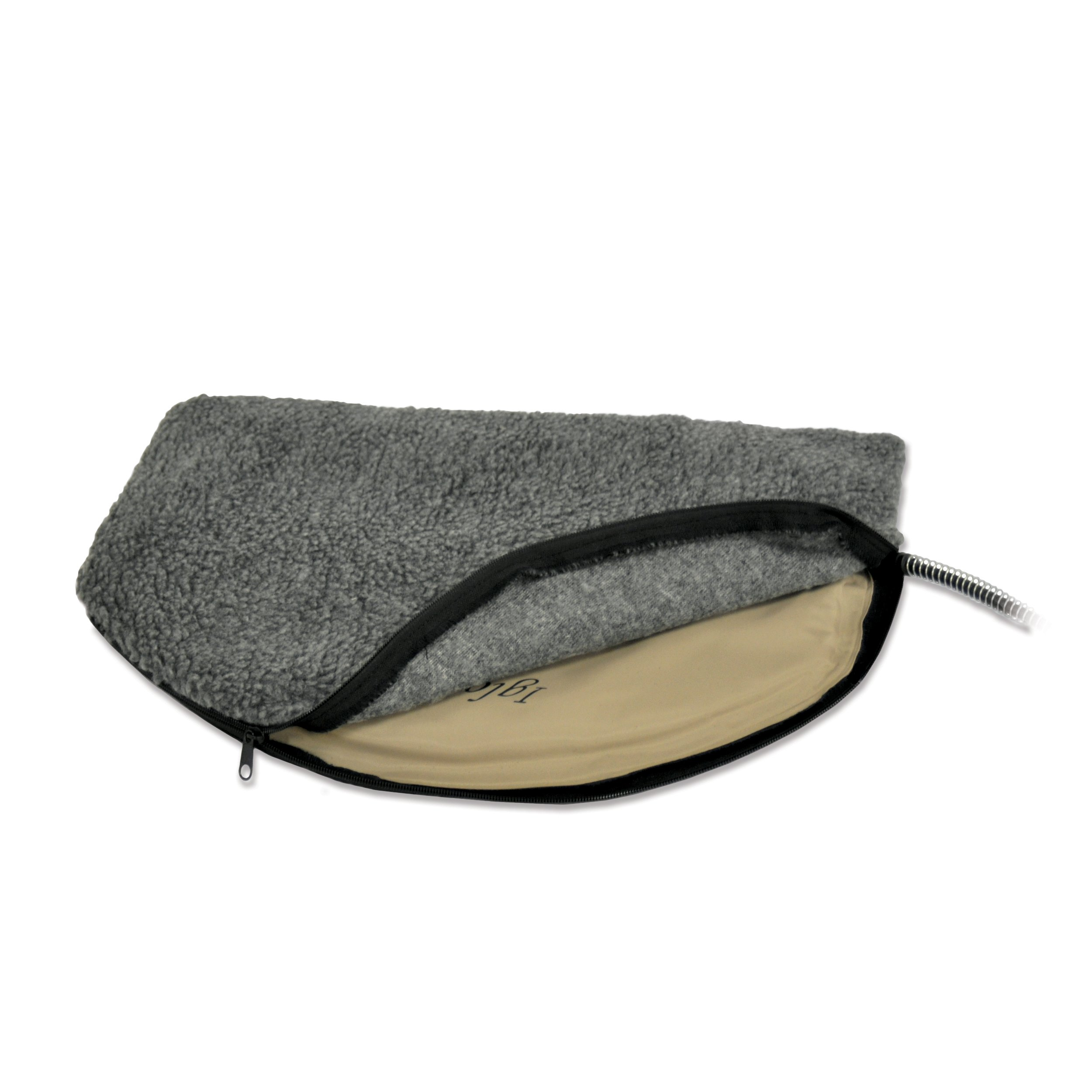 K&H Pet Products Igloo Style Outdoor Heated Pad Deluxe Cover Medium Gray 14.5'' x 24''