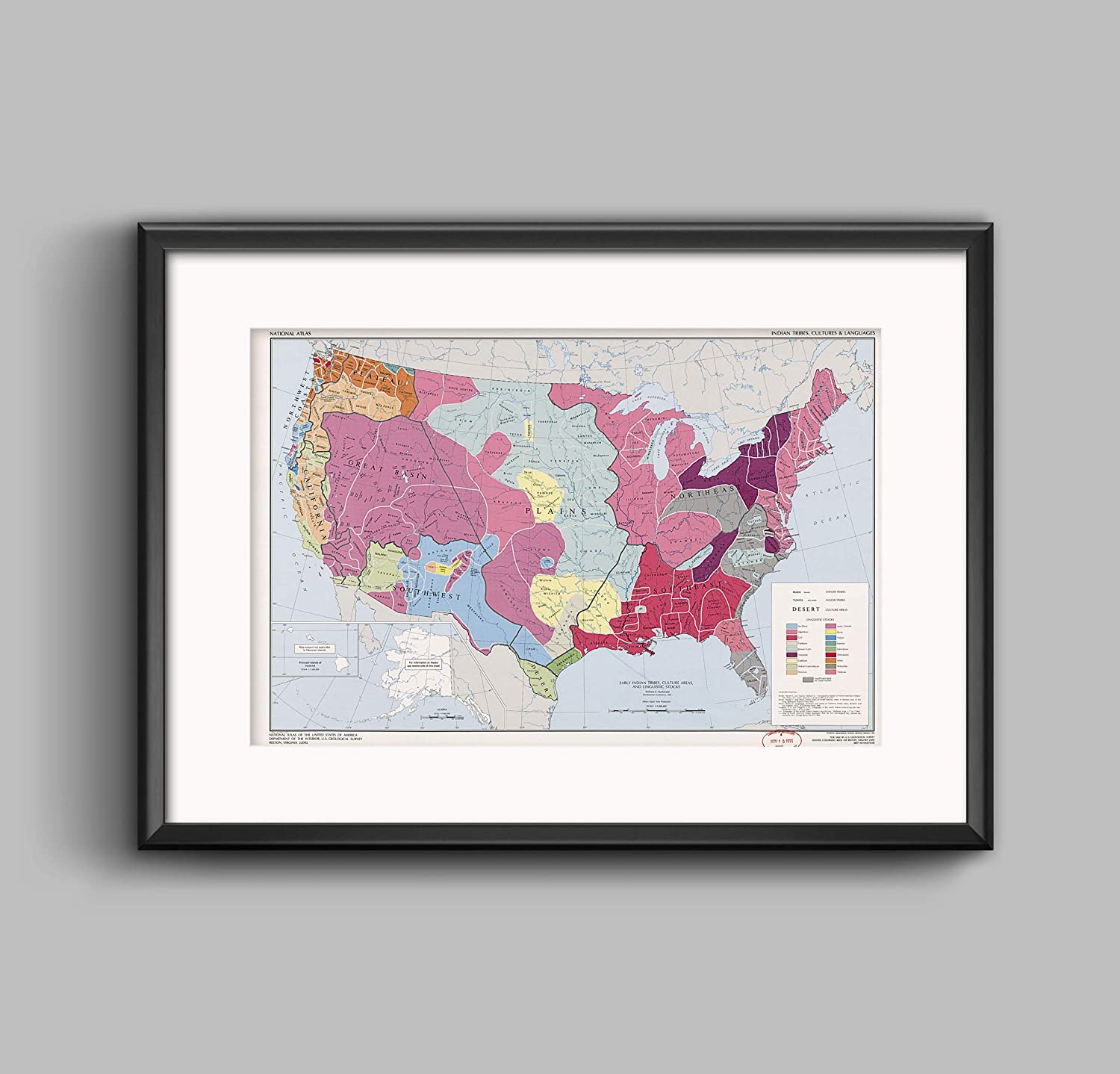 Amazon com: Riley Creative Solutions 🔴 US Map of Indian