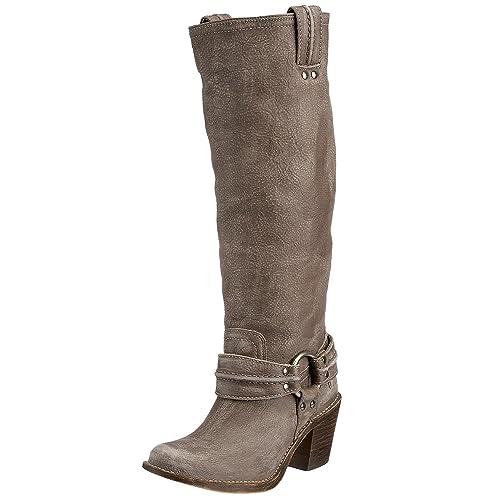Carmen Harness Tall Boot, Grey, 6.5