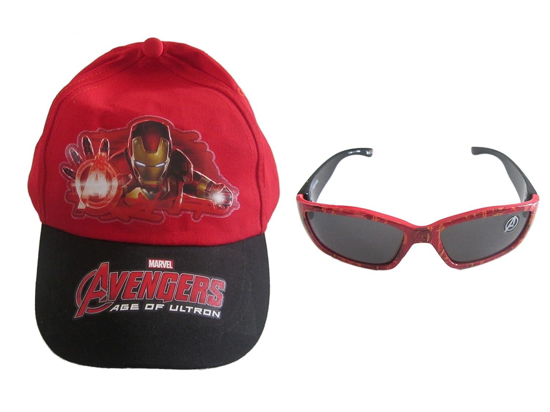 Marvel Avengers Matching Red & Black BASEBALL CAP & SUNGLASSES Imagine8