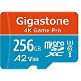 Gigastone 256GB Micro SD Card, 4K Game Pro, Nintendo Switch Compatible, A2 Run App, 4K Video Recording, R/W up to 100…