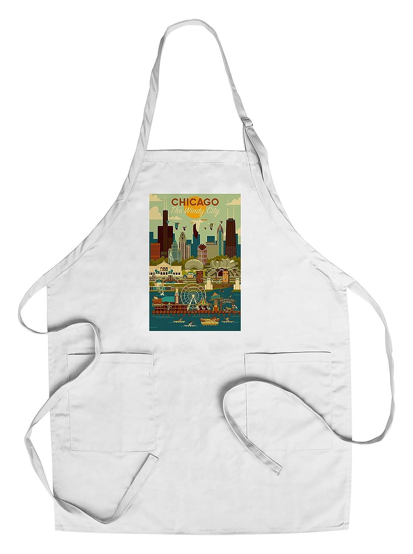 最新な シカゴ、イリノイ州 – Chef's Geometric Apron 16 x B076PR2ZQS 24 Giclee Print LANT-83140-16x24 B076PR2ZQS Chef's Apron Chef's Apron, お歳暮:2fd2546d --- 4x4.lt