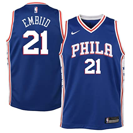 2ab6628de39 Image Unavailable. Image not available for. Color  NIKE Youth Small (8) Joel  Embiid Philadelphia 76ers ...