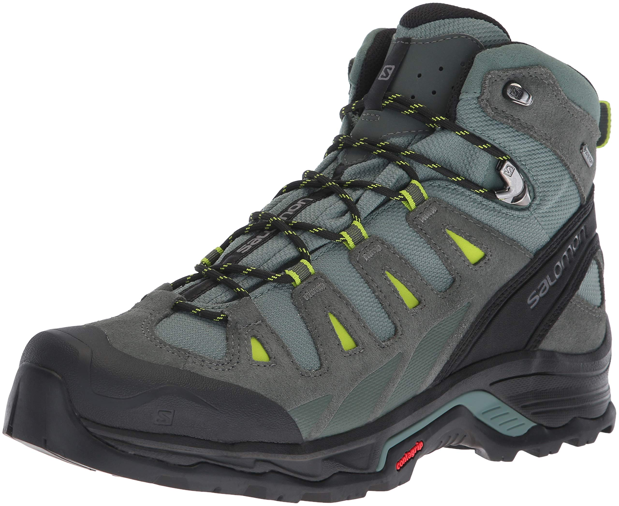 SALOMON Men's Quest Prime GTX Backpacking Boots, Balsam Green/Urban Chic/Lime Green, 10.5 by SALOMON