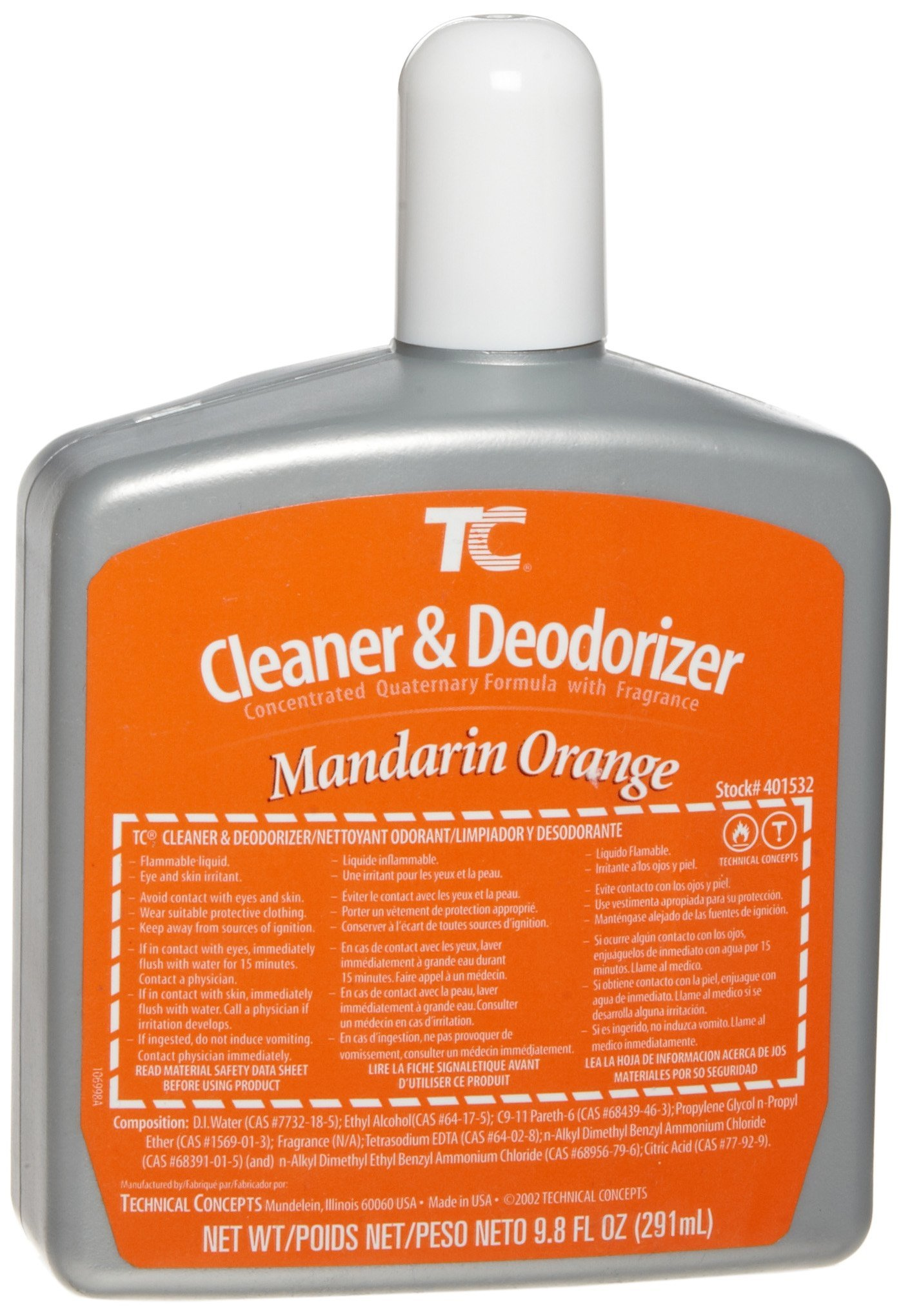 TC 401532 AutoClean Cleaner & Deodorizer Refill - Mandarin Orange (6/CA) by Technical Concepts
