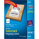 Avery Shipping Labels with TrueBlock Technology, Inkjet Printers, 5.5 x 8.5 Inch, White, Pack of 50 (8126)