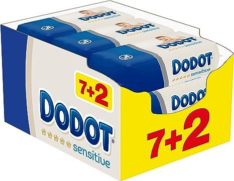 Dodot Sensitive Toallitas para Bebé, 9 paquetes de 54 unidades ...