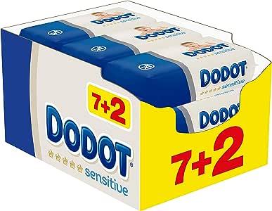 Dodot Sensitive Toallitas para Bebé, 9 paquetes de 54 unidades, 486 toallitas: Amazon.es: Bebé