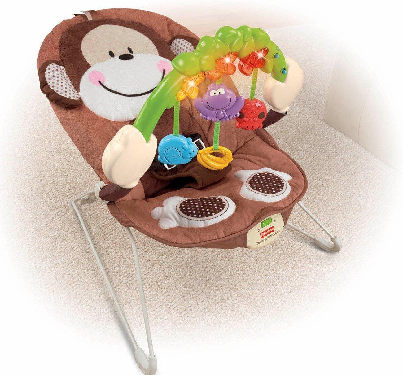 Amazoncom FisherPrice Deluxe Monkey Bouncer Infant Bouncers