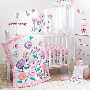 Bedtime Originals Magic Garden 3Piece Crib Bedding Set, Multicolor