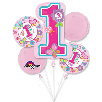Sweet 1st Birthday Girl Balloon Bouquet (Each) - Party Supplies: Arts, Crafts & Sewing