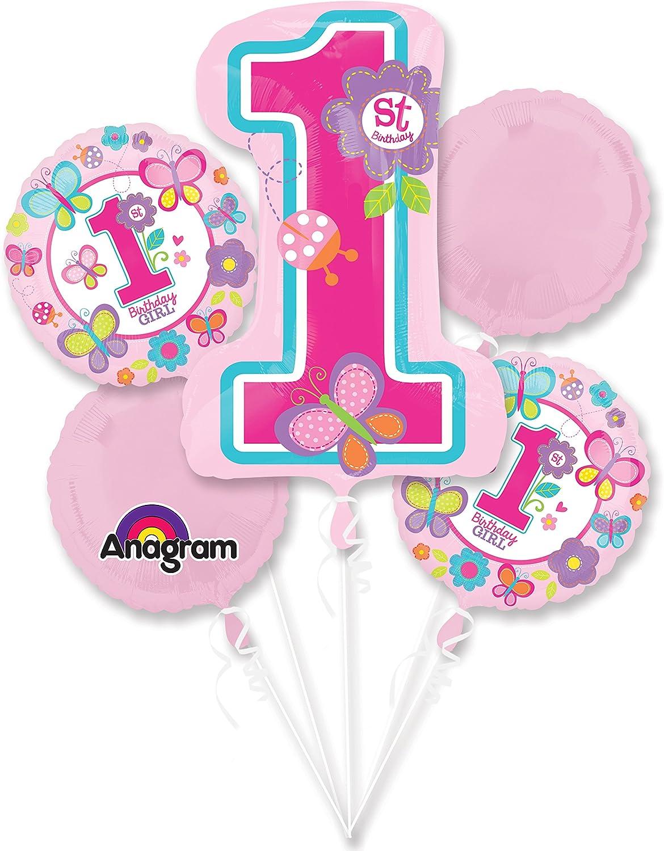 Amazon.com: Sweet 1er Cumpleaños Niña Fiesta Globo Ramo ...
