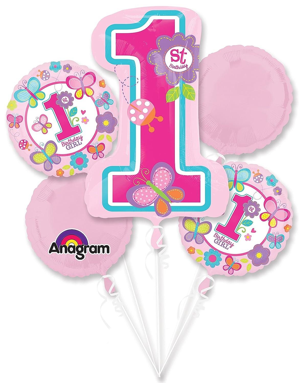 Party Supplies Each Sweet 1st Birthday Girl Balloon Bouquet