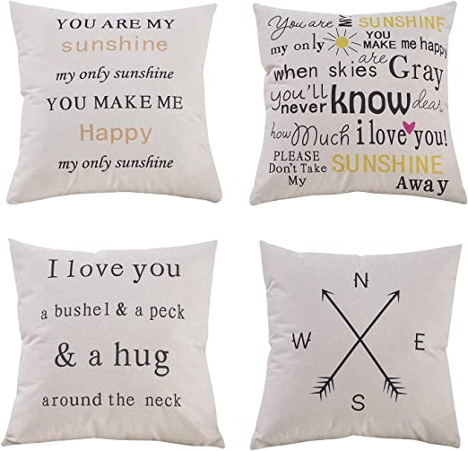 Printed in The USA Rikki Knight 16 x 16 inch Rikki KnightGood Morning Sunshine Microfiber Throw Pillow Cushion Square with Hidden Zipper Insert Included