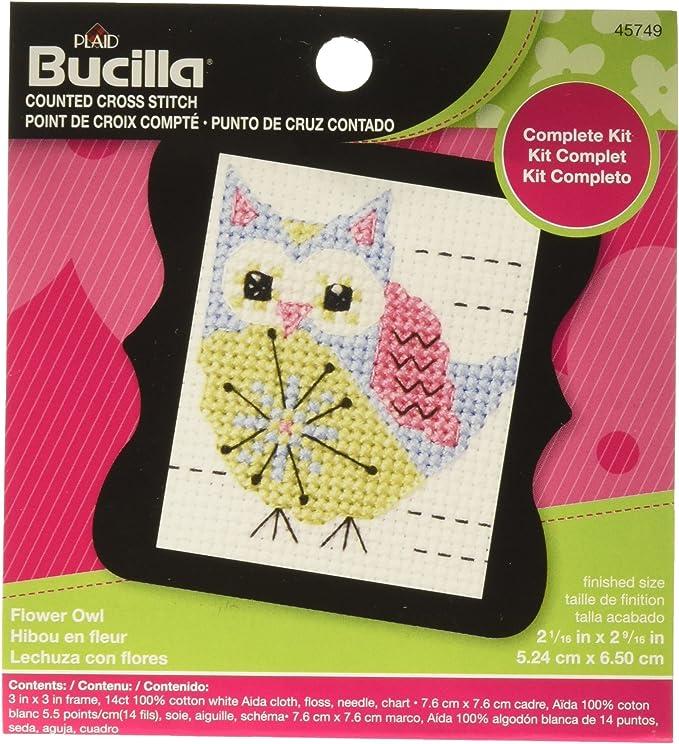 Handmade Sewing Needle Case Fox /& hibou