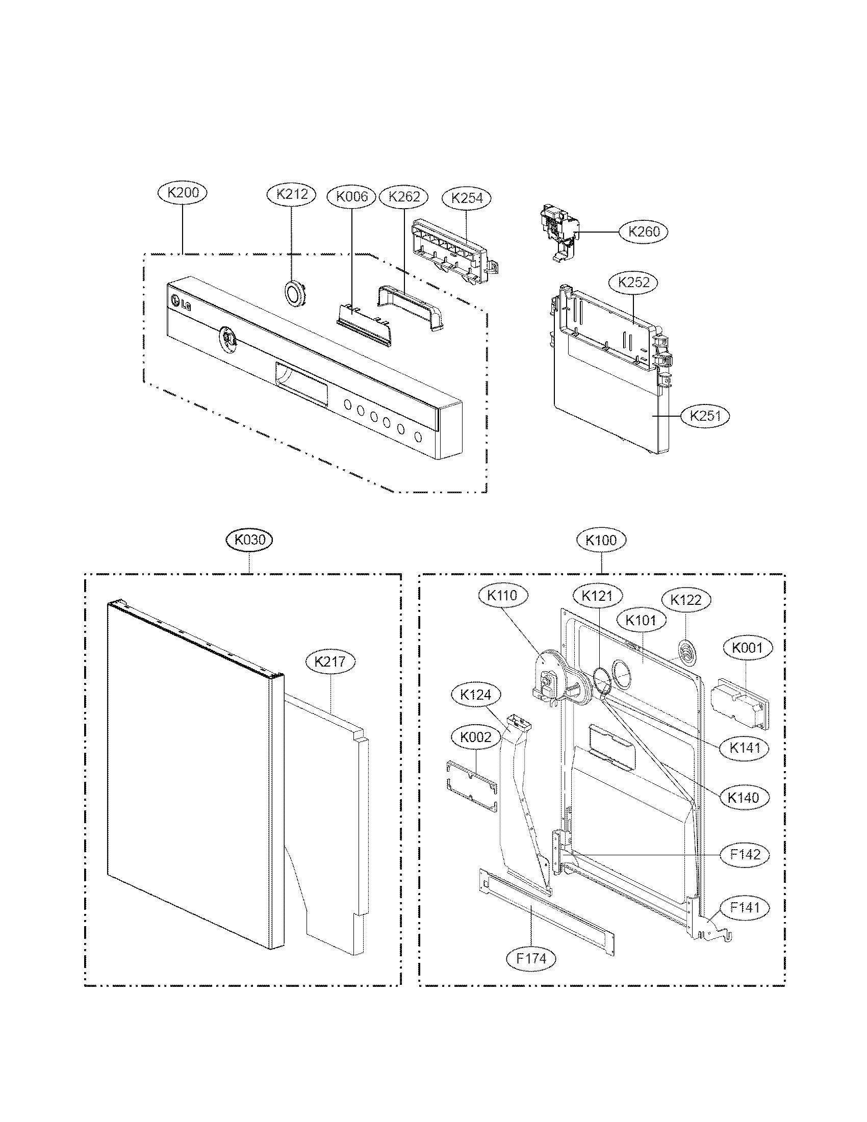 Lg EBR74727307 PCB Dispenser Assembly Genuine Original Equipment Manufacturer (OEM) Part