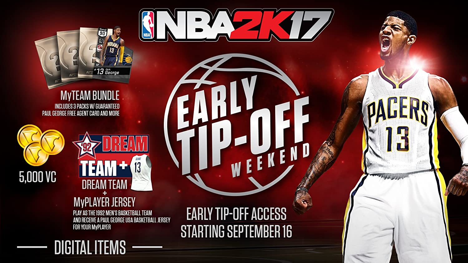 b9417b1f142 Amazon.com  NBA 2K17 - Early Tip Off Edition - PlayStation 4  Take 2  Interactive  Video Games
